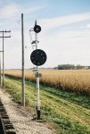 Signal 252 Eastbound. GRS Color Position Light, SP RR (Alton Line) Bloomington, IL