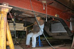 Dennis at work of the beam