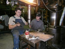 Brian and Cameron make the template for the wedges