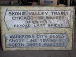 A North Shore Line sign from Great Lakes