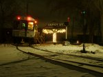 Santa Train awaits passengers at Depot St.