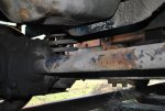 Front axle. Oil pan above