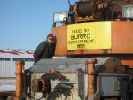Tom as the brakeman on the Burro Crane
