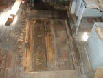 Rotten floorboards removed