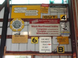 A sample of our many sign displays inside the barns (11/2005).