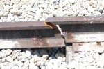 The broken rail in yard 13.