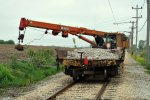 Work train picking up scrap metal 5-14-11