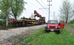 Work train on the mainline 5-14-11
