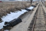 New tie bundles laid out on the mainline East of Seeman Road 3-13-11