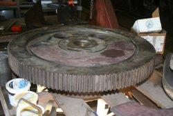 Drive gear awaits welding