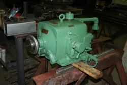 The pump for the planer now rebuilt