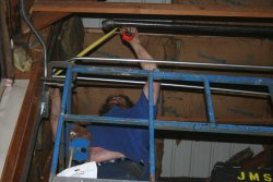 Jeff starts installing the air system