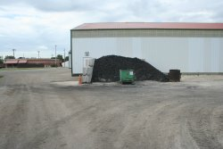 Temporary coal storage