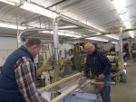 Paul and Roger prepping 11 foot sections of ash for future mfg of RI window sills