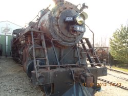 RI 938 4-6-2 'Pacific'  Headlight and marker lites added this year 11-21-12