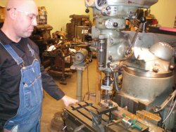 Here is Eric Hoyem machining parts for 428 brake leakage