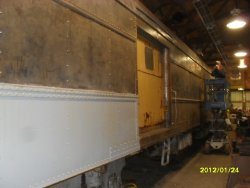 CGW 285 side sheet partly primed 1-24-12