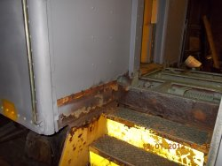 Stairs and side panel needing repair      12-1-12