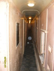 Showing hallway of Glen Springs Lights operating on DC not AC  Feb 2012