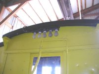 Rear of cab showing work light cluster