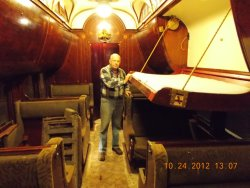 John McKelvey showing restored upper berth springs 10-24-12
