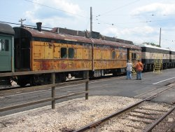 BN-2 couples with the Dynamometer for one of the coach trains - Photo by Chuck Trabert