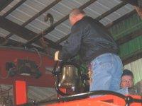 John F & Gerry installing bell