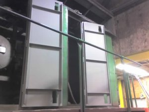 Engine Room Doors with first coat of paint on CBQ 504.