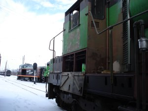 In view are two recently completed locomotives, 504 will soon join them.