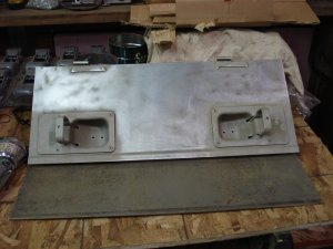 Set of electrical cabinet doors sanded