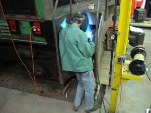 Jamie welding in step support