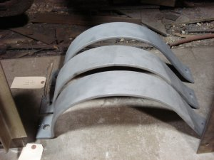 Main reservoir tank brackets sand blasted