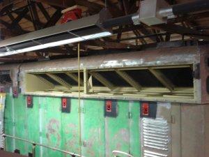 Radiator compartment primed, 04-12-08