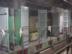 Engine Room doors final coat of gray