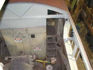 The area for the HEP cooling hatch has been completed and now wheres a fresh coat of grey paint.