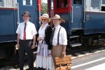 Passengers in period clothes