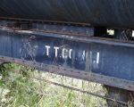10.03.03 - A STENCIL BELIEVED TO HAVE BEEN APPLIED AT THE TEXACO REFINERY TO MARK THE TANK AS A STORAGE UNIT.