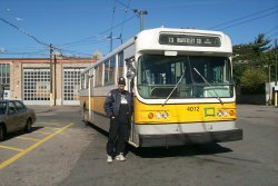 Checking out Trolley Coaches elsewhere - in this case, Boston (10/1999).