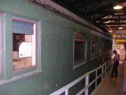 09/22/07 Baltimore & Maine 1094 Cafe Car inside Barn 3