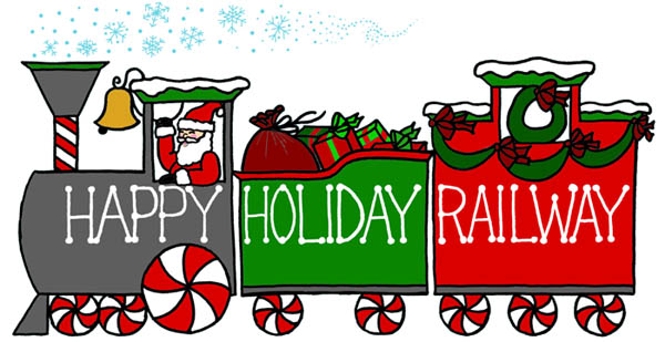Happy Holiday Railway Christmas Event Logo