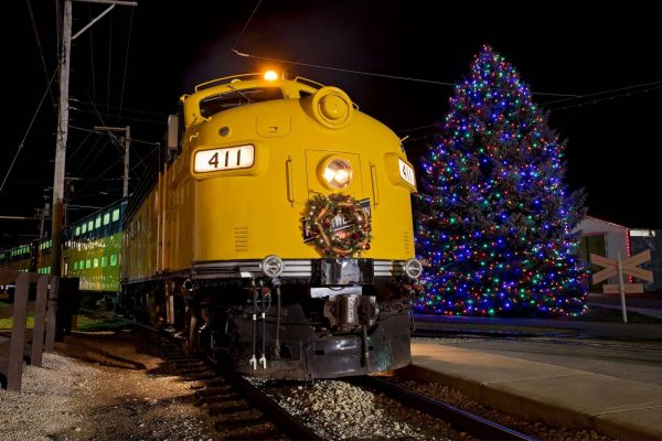 Christmas train at the Illinois Railway Museum