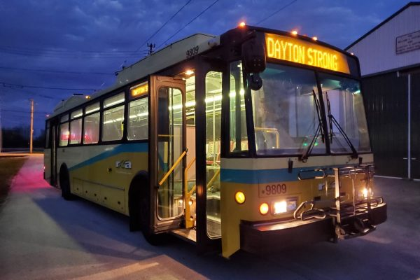 Dayton trolley bus 9809