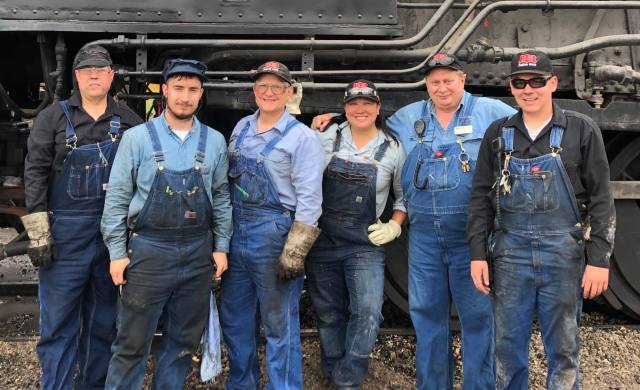 Volunteers at the Illinois Railway Museum